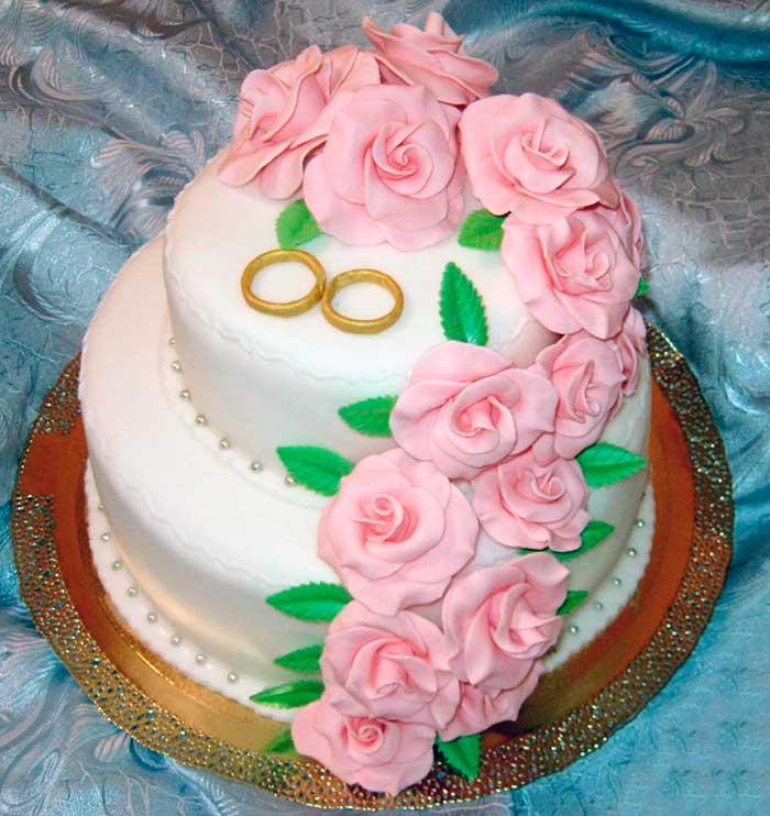Торт из мастики фото колечки