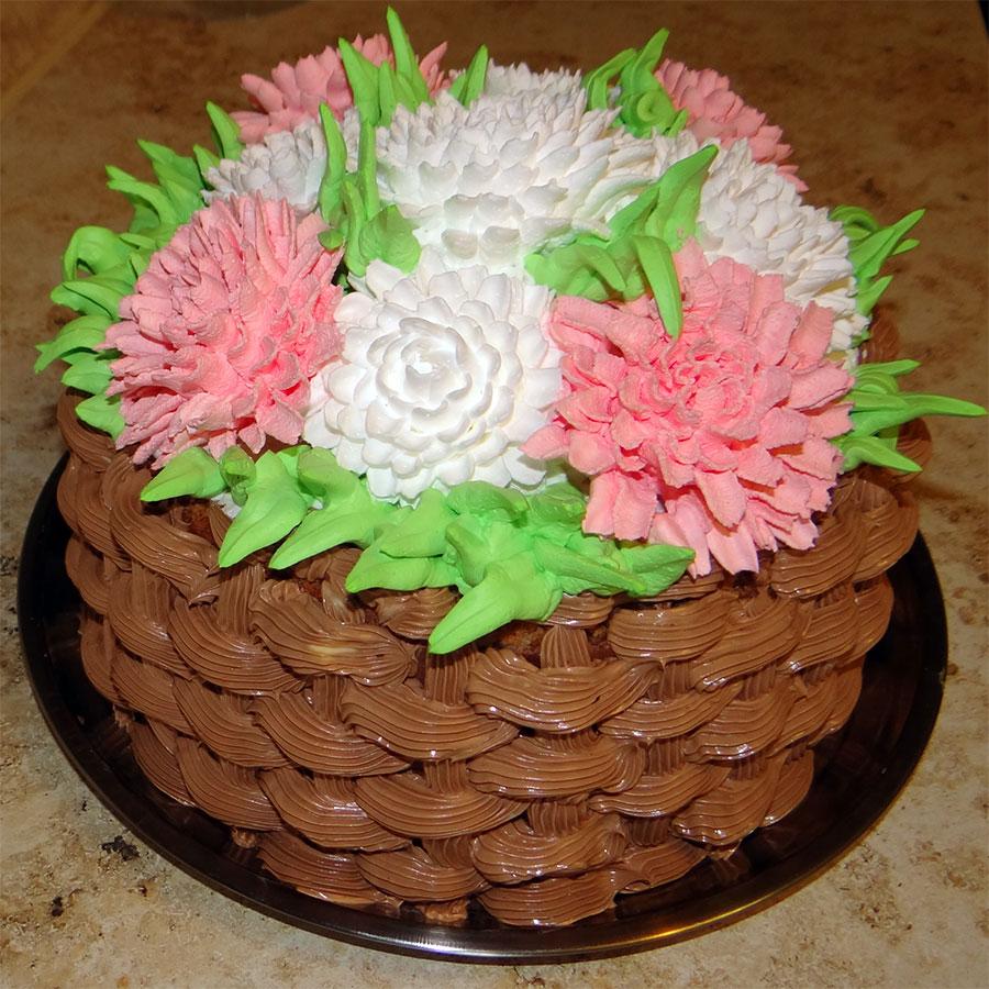 кремовый торт корзинка с цветами картинки существует множество