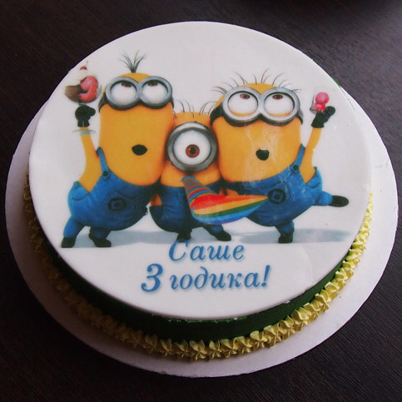 Торт с миньоном картинки